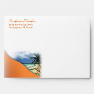 Monika Save the Date Hawaii Wedding Announcement Envelope