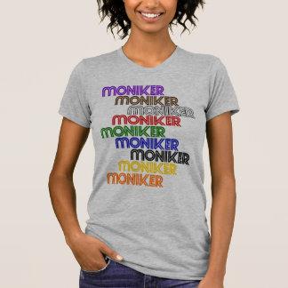 Moniker Logo Tile Women's V Neck T T-Shirt