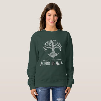 Moning Maniac Sweatshirt (white on dark)