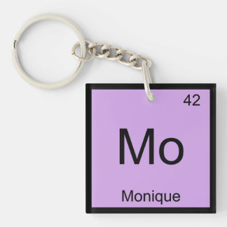 Monique Name Chemistry Element Periodic Table Keychain