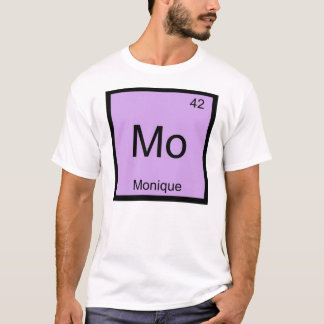 Monique Name Chemistry Element Periodic Table T-Shirt