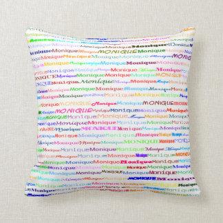 Monique Text Design II Throw Pillow