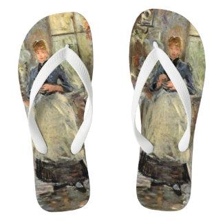 "Monisot's ""The Dining Room"" art sandals Flip Flops"