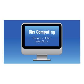 Monitor Computing Card Business Card