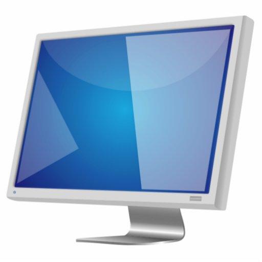 Monitor de computadora fotoescultura vertical