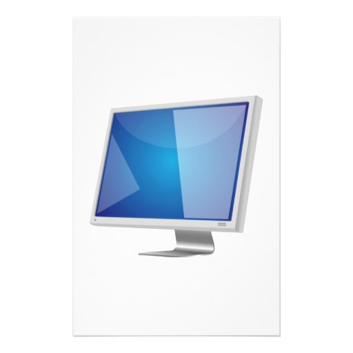 Monitor de computadora papeleria de diseño