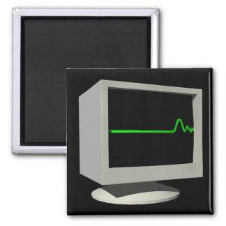 Monitor de Flatline Imán Cuadrado