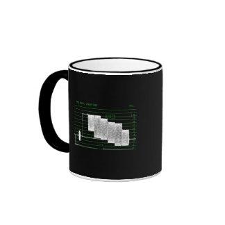 Monitor de la forma de onda tazas de café