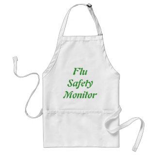 Monitor de la seguridad de la gripe delantal