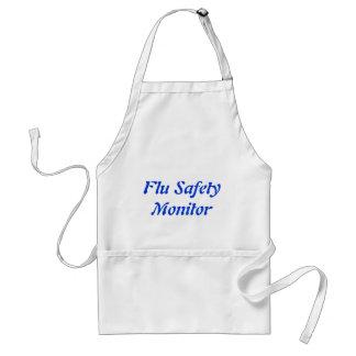 Monitor de la seguridad de la gripe delantales