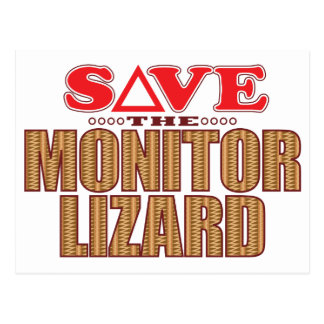 Monitor Lizard Save Postcard