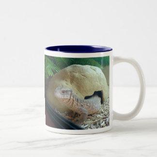 monitor lizard Two-Tone coffee mug