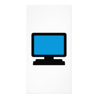 Monitor screen photo greeting card