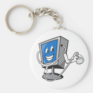 Monitor With A Stethoscope Keychain