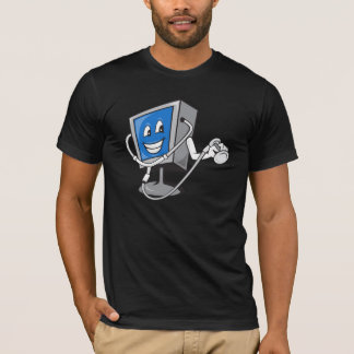 Monitor With A Stethoscope Mens T-Shirt