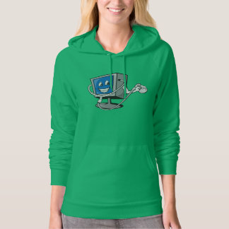 Monitor With A Stethoscope Womens Hoodie