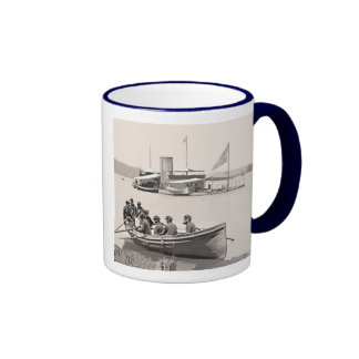 Monitors and Gunboat Ringer Coffee Mug