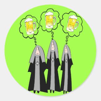 Monja católica Gifts~~Hilarious Pegatinas Redondas