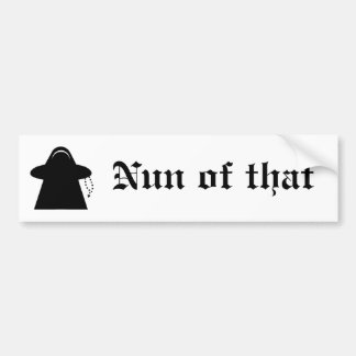 Monja de esa pegatina para el parachoques católica pegatina para auto