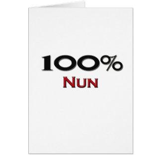 Monja del 100 por ciento tarjeta de felicitación