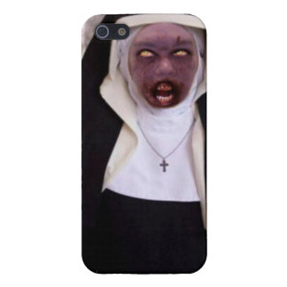 Monja del zombi iPhone 5 carcasas