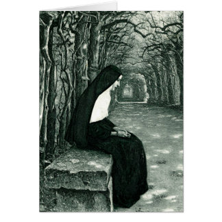 monja solitaria tarjeta de felicitación