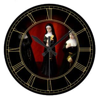 Monjas extrañas relojes de pared