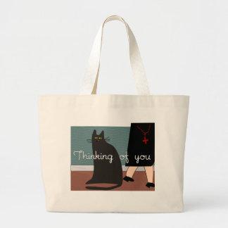 """Monjas """"que piensan en usted"""" tarjetas y diseño de bolsas"""