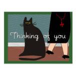 """Monjas """"que piensan en usted"""" tarjetas y diseño de postales"""