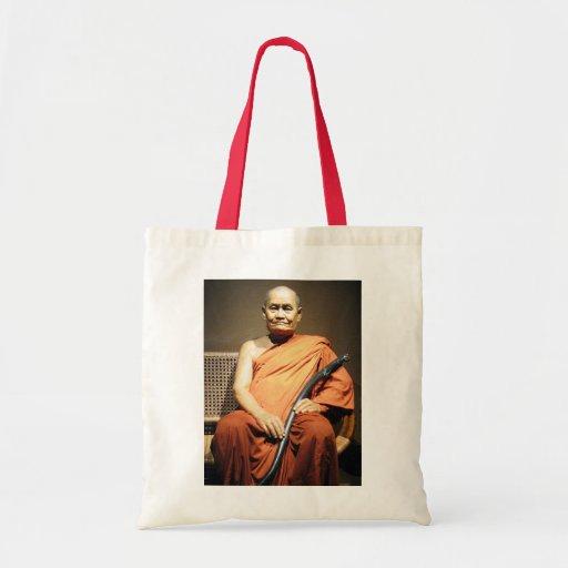 Monje budista de Luang Poo Cha Subhaddho… Bolsa Tela Barata