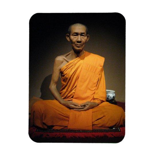 Monje budista de Luang Por Kasem Khemako… Imán Foto Rectangular