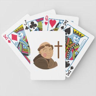 Monje católico baraja cartas de poker