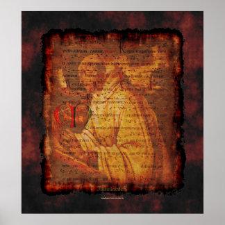 Monje cisterciense y impresión religiosa del arte  posters