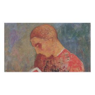 Monje de Alsacia o de la lectura de Odilon Redon Plantilla De Tarjeta De Visita