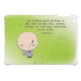 Monje de Chibi - caso del iPad de la cita del zen