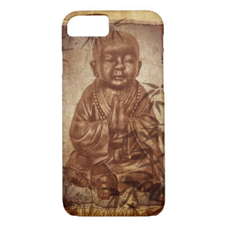Monje del Buddhism - diseño de bambú Funda iPhone 7