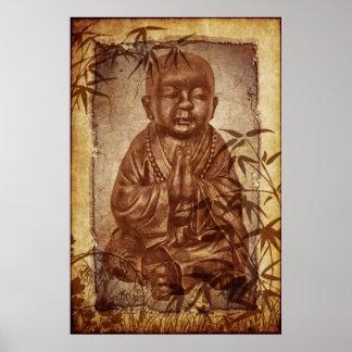 Monje del Buddhism Póster