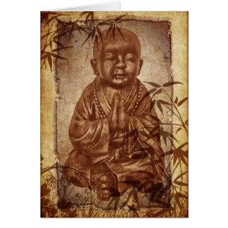 Monje del Buddhism Tarjeta De Felicitación