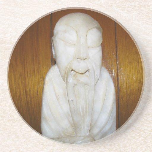 Monje del filósofo posavasos personalizados
