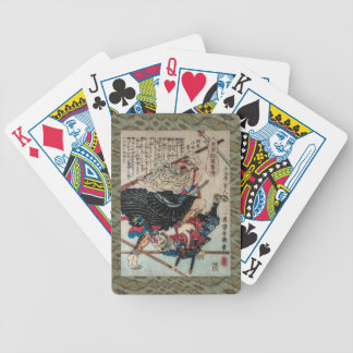 Monje del guerrero baraja de cartas