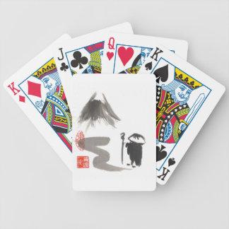 Monje del zen en viaje baraja de cartas