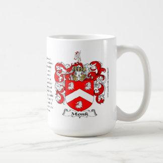 Monje, el origen, el significado y el escudo taza