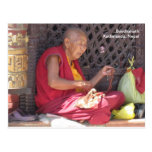 Monje en Boudha Stupa Tarjetas Postales
