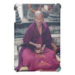 Monje en caso del iPad de Bodh Gaya