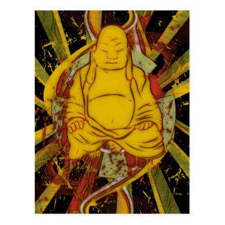 Monje en la meditación tarjetas postales