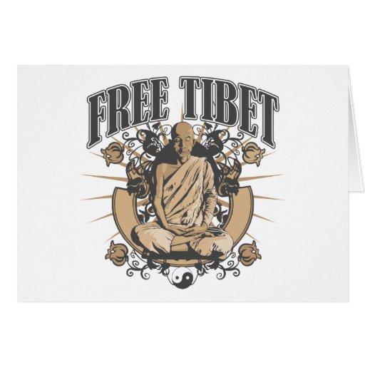 Monje libre de Tíbet Tarjetón