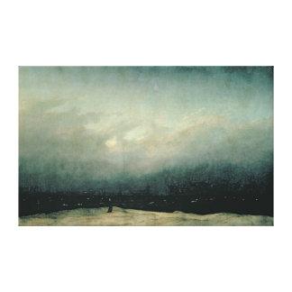 Monje por el mar, 1809 lona estirada galerías