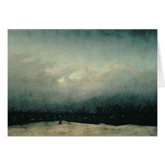 Monje por el mar, 1809 tarjeta de felicitación