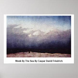 Monje por el mar de Caspar David Friedrich Posters