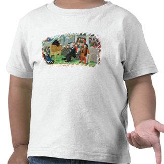 Monje que predica en la imitación camisetas